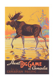 Canada Travel Poster, Moose Prints
