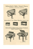 Selection of Toy Pianos Print
