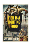 Fish Is a Fighting Food Print
