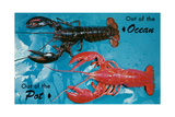 Out of Ocean, into Pot, Lobsters Prints