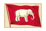 Old Flag of Siam Premium Giclee Print
