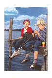 Children Fishing Posters