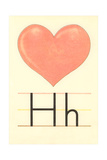 H Is for Heart Prints