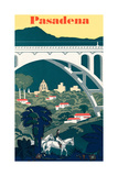 Pasadena Travel Poster Prints