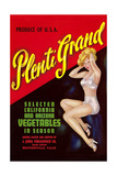Crate Label for Plenti Grand Vegetables Poster