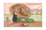 Mermaid at Myrtle Beach Posters