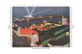 Night Panorama of Chicago World Fair Poster