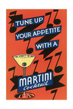 Tune Up Your Appetite, Martini Print