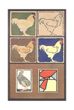Artistic Chickens Poster