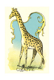 Giraffe Drawing Prints