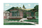 Craftsman Bungalow with Overhang Art