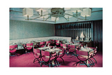 Restaurant Wtih Pink Chairs Print