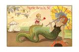 Mermaid at Myrtle Beach Kunst