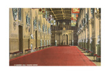 St. George Hall, Windsor Castle Print