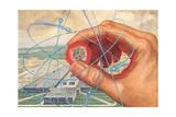 Atom in Hand Kunst