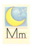 M Is for Moon Prints