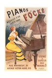 French Piano Poster Print
