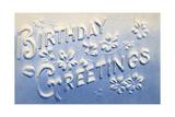 Embossed Birthday Greetings Prints