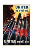 United We are Strong Poster Posters