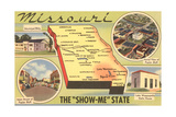 Map of Missouri Art