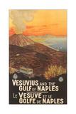 Travel Poster for Vesuvius Umělecké plakáty