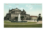 Opera House in Old Dresden, Germany Prints