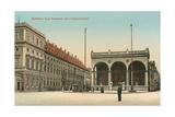 Royal Palace, Feldherrnhalle, Munich, Germany Prints