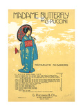 Madame Butterfly Sheet Music Prints