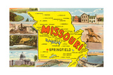 Missouri Scenes and Map Art