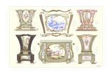 Porcelain Sevres Planters Print
