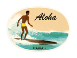Aloha, Native Surfer Print