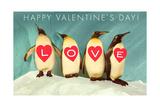 Happy Valentine's Day, Love Penguins Print