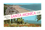 Greetings from Santa Monica, California Prints