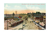 Front Street, San Pedro Harbor, California Print