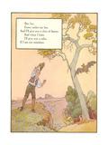 Bat Poem Giclee-tryk i høj kvalitet