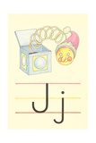 J Is for Jack-In-The-Box Print
