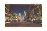 Theatre Row at Night, Dallas Lámina giclée premium