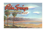 Desert at Palm Springs Poster