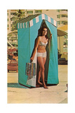Bathing Beauty in Changing Tent Posters