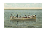 Navy Boat Drill Off Newport Print