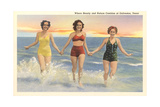 Thirties Bathing Beauties, Galveston Kunstdrucke