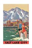 Travel Poster for Salt Lake City Prints