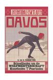 Poster for Speed Skating in Davos Kunstdrucke