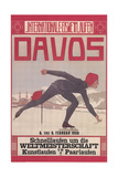 Poster for Speed Skating in Davos Prints