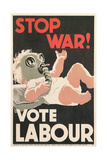 Stop War, Baby in Gas Mask Posters