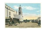 Street Scene, Early Juarez, Mexico Kunstdrucke