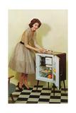 Fifties Housewife with Mini-Fridge Prints