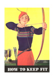 How to Keep Fit, Woman Archer Prints