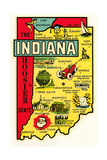 The Hoosier State Map Print