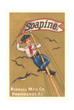 Sailor on Mast with Banner Art